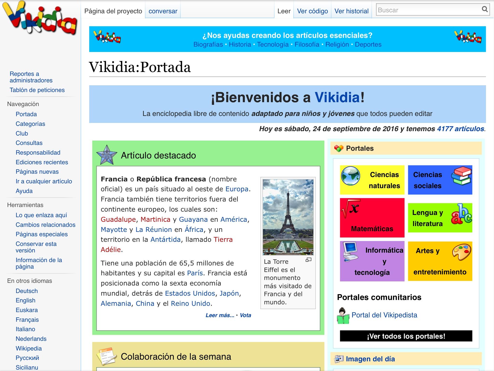 Vikidia en espagnol