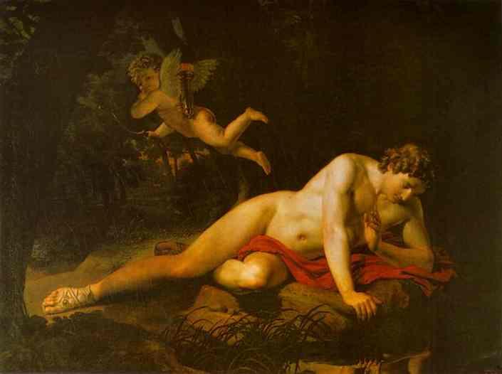 Rousseau s'amuse de l'image de Narcisse