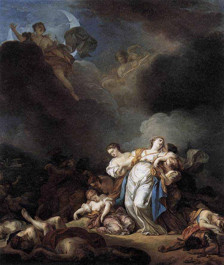 Les vengeances de Latone (Les paysans de Lycie, Massacre