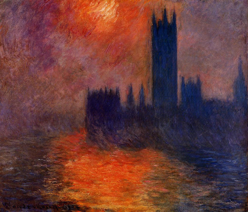 Claude Monet Houses Of Parliament Sunset.