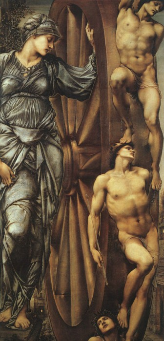 La roue de la fortune d'Edward Burne-Jones