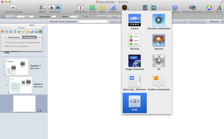 integre des pdf dans ibook