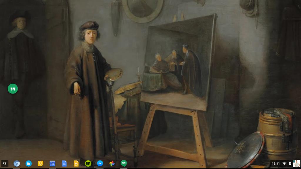 Mon bureau sous Chromium OS (sur un PC Lenovo)